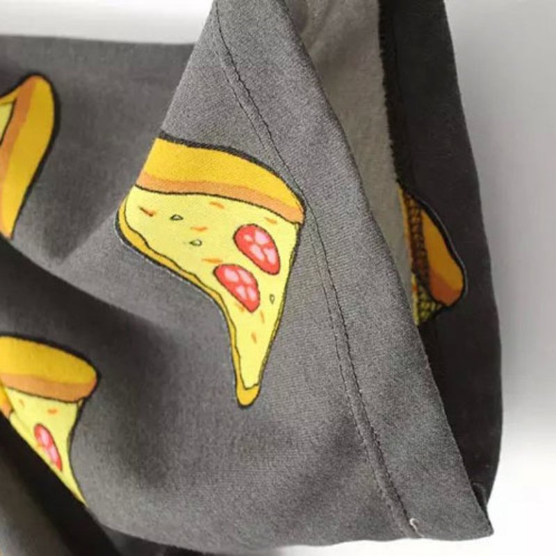 Ingen DRAMA T-shirt Kvinder Cute Pizza Letters Print Kortærmet Toppe - Dametøj - Foto 5