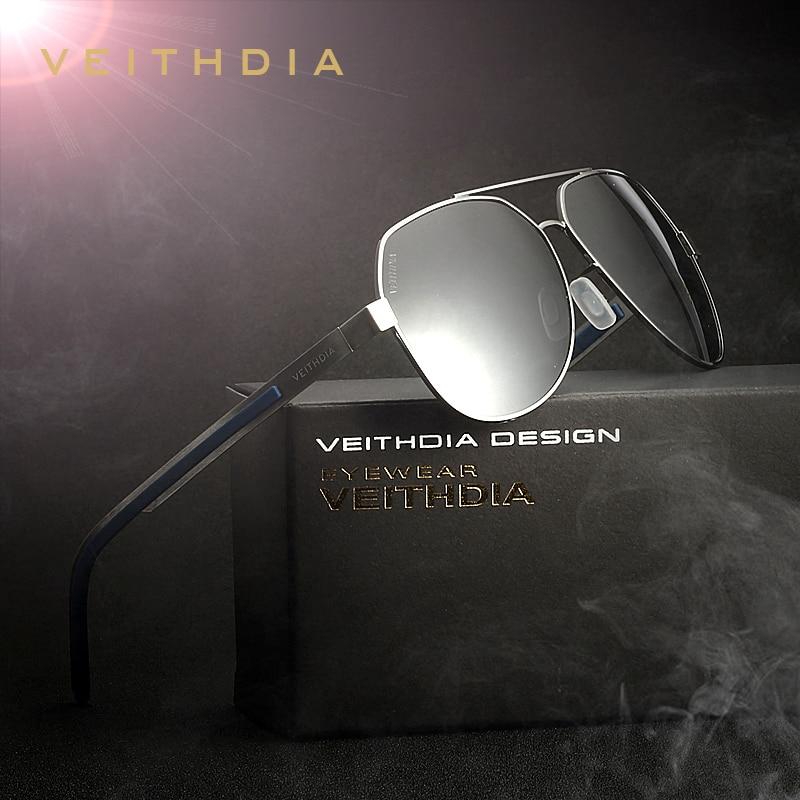VEITHDIA modna sončna očala polarizirana moška sončna očala oculos moška očala dodatki za moške / ženske modra barvna ogledala 3556