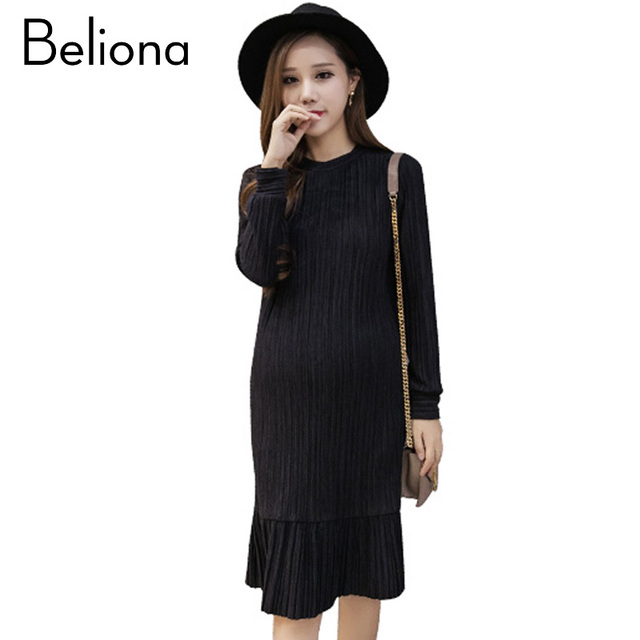 Fashion Formal Maternity Party Dress Autumn Winter Clothes Office Lady Clothing For Pregnant Women Pregnancy
