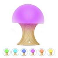 LumiParty LED Night Light Silicone Timer Light Ball Mushroom Appearance USB Rechargeable Color Changing Desk Lamp
