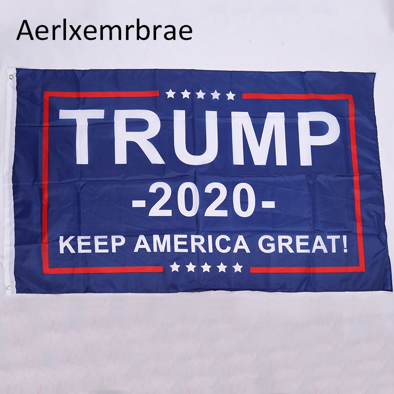 free shipping  aerlxemrbrae  flag  Trump 2020 Flag Donald Trump Flag Keep America Great Donald For President USA(China)