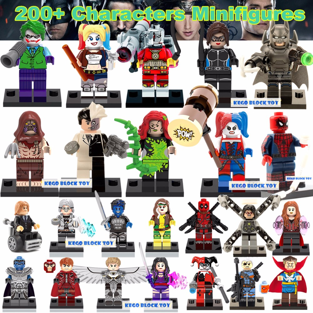 Single Sale Minifigures Marvel Super Hero Avengers Deadpool Batman Building Blocks Sets Bricks Kids Toys