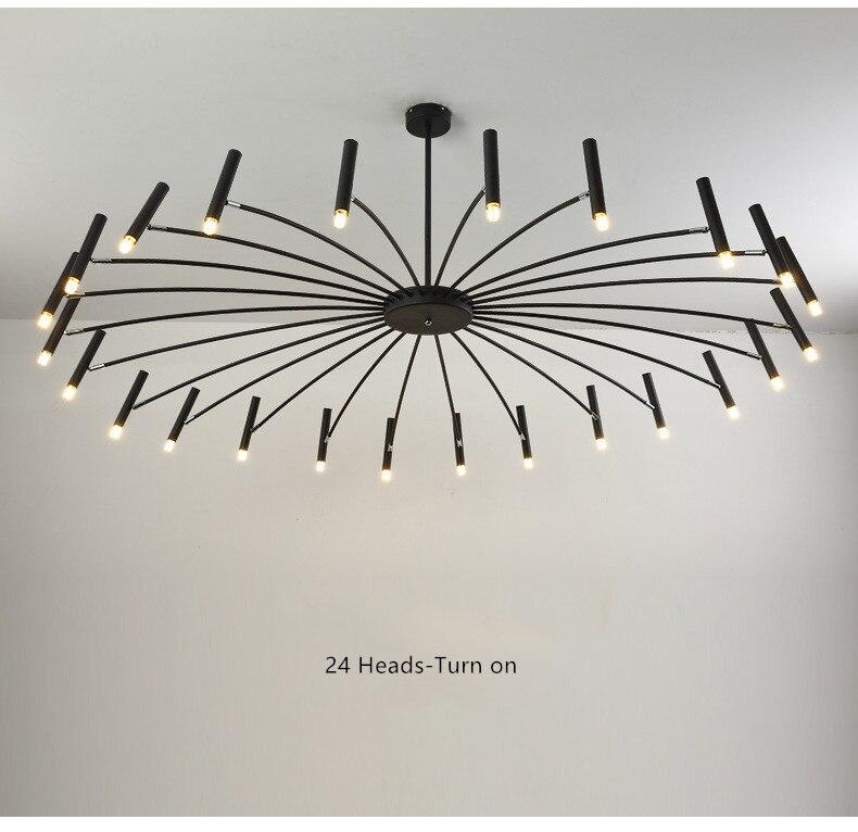 Loft Nordic Art Led Chandelier Creative Art Deco Luminária Restaurante Quarto Foyer Sala de Jantar Luminária