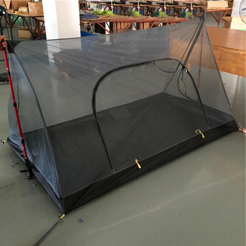 Tente de Camping en forme de A Portable sans poteau moustiquaire tente de filet de fil Total équipement de plein air quantitatif Ultra léger Camping