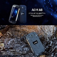 Original AGM A8 4GB RAM 64GB ROM Waterproof Phone 5 0 Inch Android 7 0 MSM8916