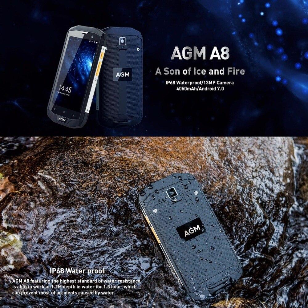 AGA origine A8 4 GB RAM 64 GB ROM Étanche Téléphone 5.0 pouce Android 7.0 MSM8916 Quad Core 13MP LTE 4G Smartphone NFC L'UE Version