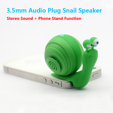 New Portable 3.5mm Audio Plug Mobile Phone Speaker, 3.5mm Stereo Sound Snail Speaker With Dock Function.