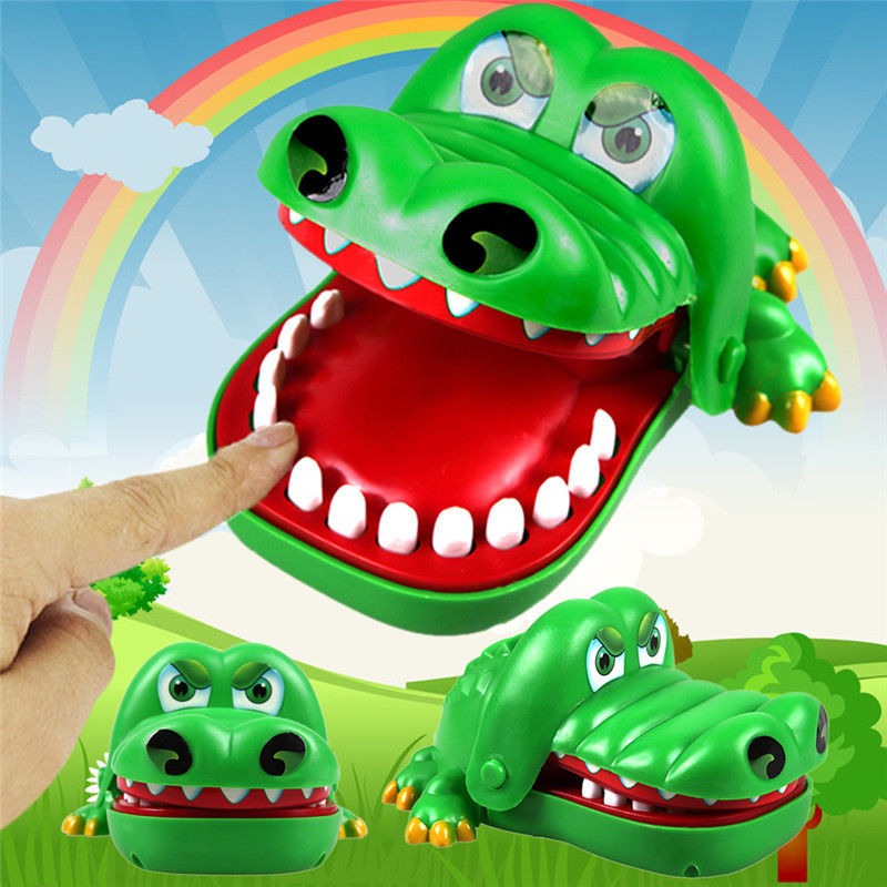 Big Mouth Crocodile Biting Finger Game Funny Toy Gift Funny Gags Novetly Toys For Kids Crocodile Dentist Bite Prank Toys