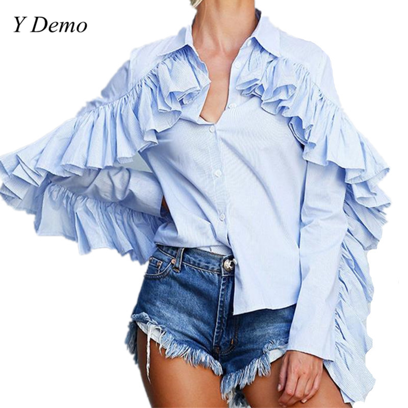 New Fashion Long-sleeved striped Women Fashion Shirts