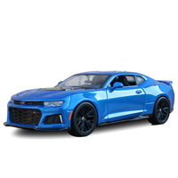 Simulation 1:24 2017 Chevrolet Camaro ZL1 alloy model car,advanced collection and gift car model ornaments,free shipping