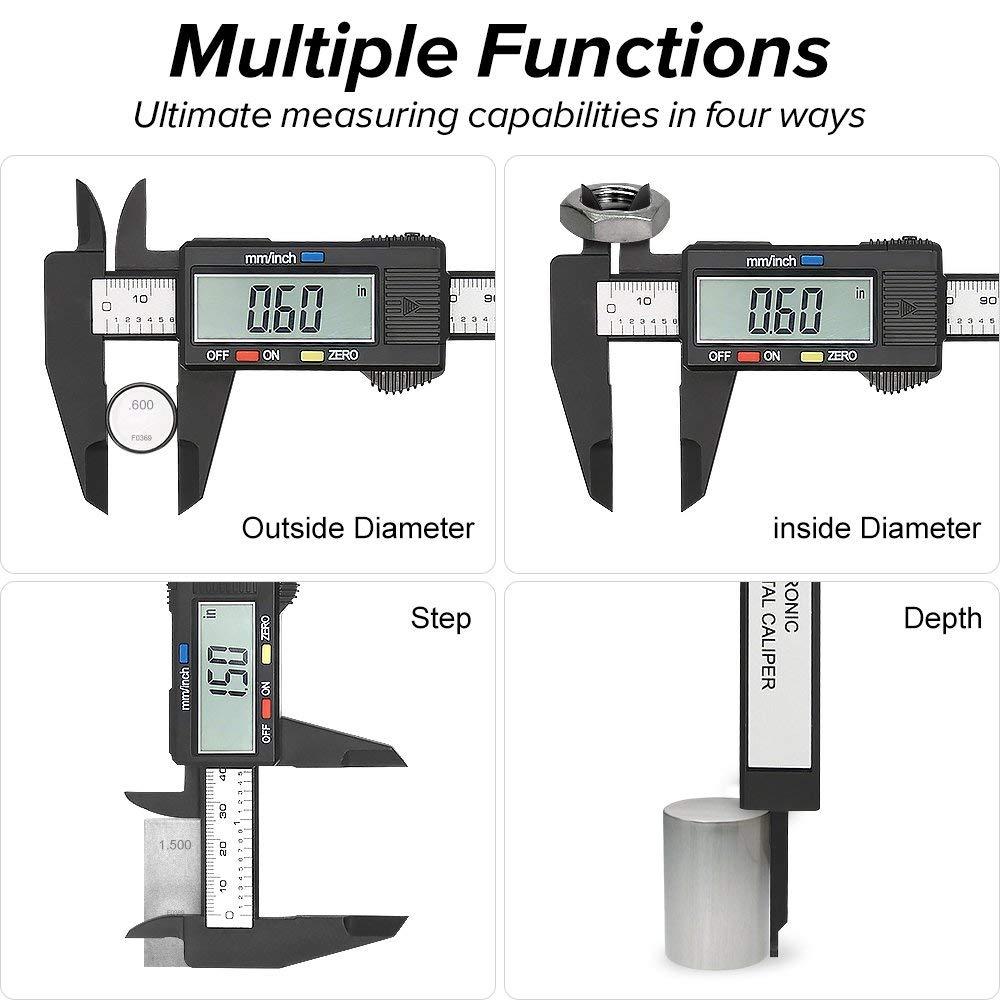 Image 4 - Digital Caliper 6 inch Electronic Vernier Caliper 100mm Calliper Micrometer Digital Ruler Measuring Tool 150mm 0.1mm-in Calipers from Tools