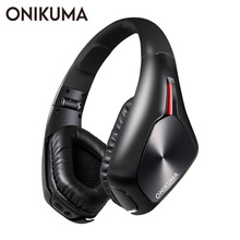 ONIKUMA B1 Bluetooth Беспроводной наушники с микрофоном над ухом Bluetooth 4,1 музыке стерео гарнитура для iPhone samsung MP3
