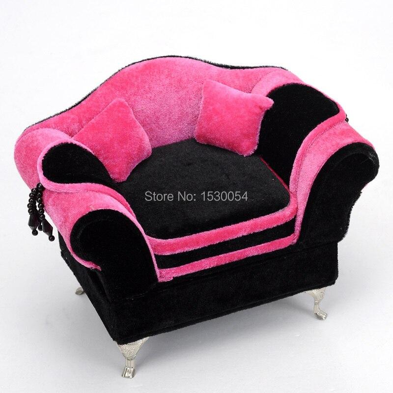 Mini Barbie Cute Furniture Sofa Bed Storage Box Jewelry