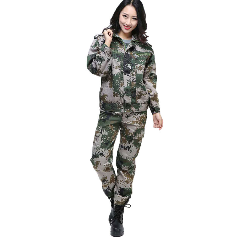 Jungle Camouflage Suit Men's Outdoor Training Uniforms Students Military Training Uniforms Special Men's Wear Labor Insurance