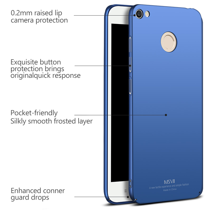 High quality luxury Msvii Phone Case Xiaomi Redimi Note 5/Note 5a/note 5a pro Case funda Matte Surface PC Hard case Coque