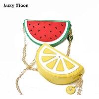 Dưa hấu lemon túi hình evening clutch bag trái cây chuỗi túi messenger túi nhỏ crossbody bagsfor phụ nữ bolsos mujer ví