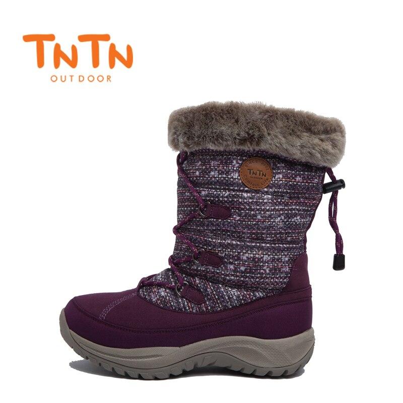 TNTN 2018 Winter Snow Boots For Women Waterproof Hiking Shoes Women Breathable Outdoor Sneakers Waterproof Hiking Boots Woman