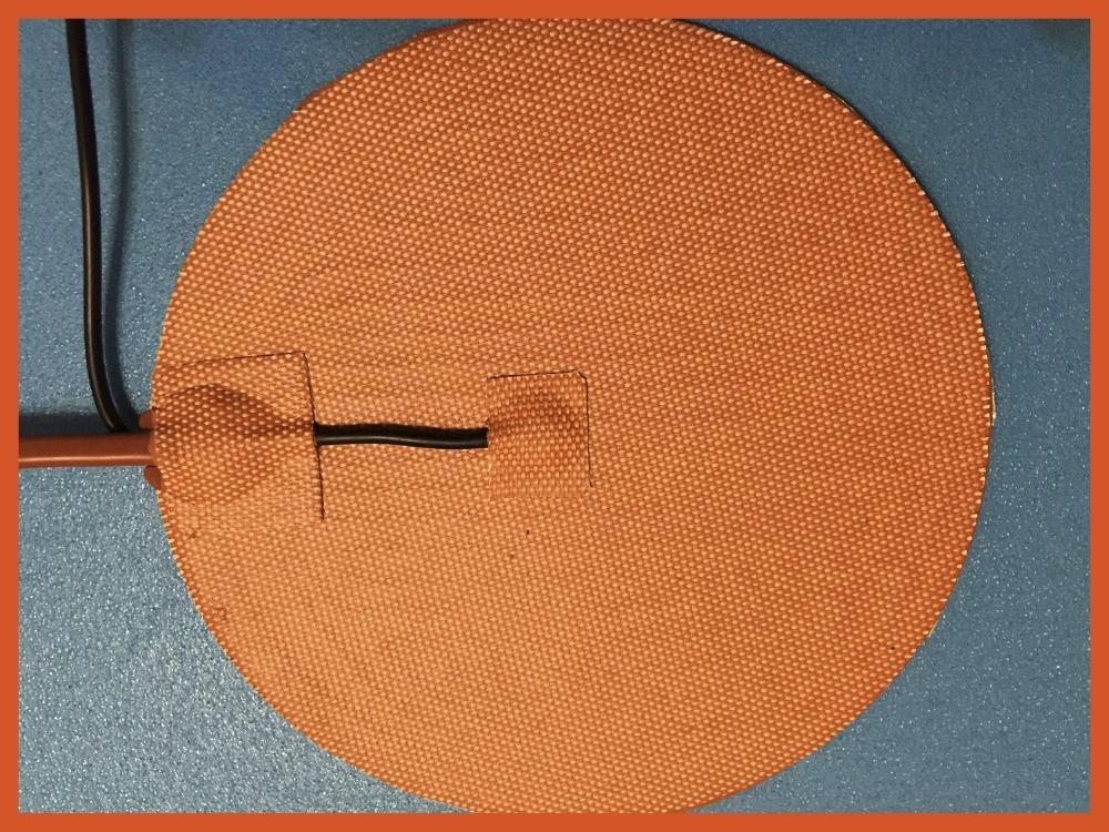 Gomma di silicone 3d stampante riscaldatore 110 v 400 w diametro 310mm 3m adesivo 100 k termistore industrial heater electric silicone pad riscaldatore 220 v 800 w dia 500mm con 3m adesivo abd 100k termistore oil silicone heater film heat electric heater