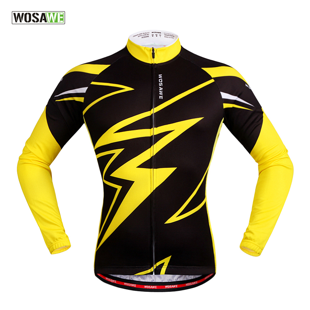 WOSAWE Quick Dry Cycling Jersey Long Sleeve Summer Spring Breathable Men's Shirt Bicycle Wear Racing Tops Cycling Clothings quick dry breathable cycling bike jersey short sleeve summer spring women shirt bicycle wear racing tops pants sports clothing