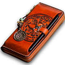 Luxury Brand High-grade Agate Strap Genuine Leathermen wallets Embossed Calfskin Encrusted Women wallets and coin purse(China)