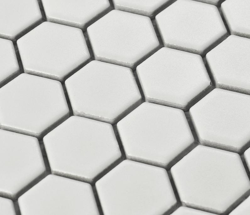 verfilzte wei porzellan mosaik fliesen hexagon keramik aufkleber bathroon wandkche backsplash wand - Mosaikfliesen Wei