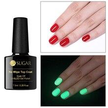 UR SUGAR Luminous No Wipe Top Coat Glow In the Dark UV LED Gel