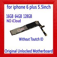 16 Гб 64 Гб 128 ГБ для iphone 6 Plus 5,5 дюймов материнская плата без сенсорного ID, оригинальная разблокированная материнская плата для iphone 6 P, iCloud