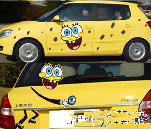 New Hot Anime Car Stickers Anime Stickers SpongeBob On Aliexpress - Spongebob decals for cars