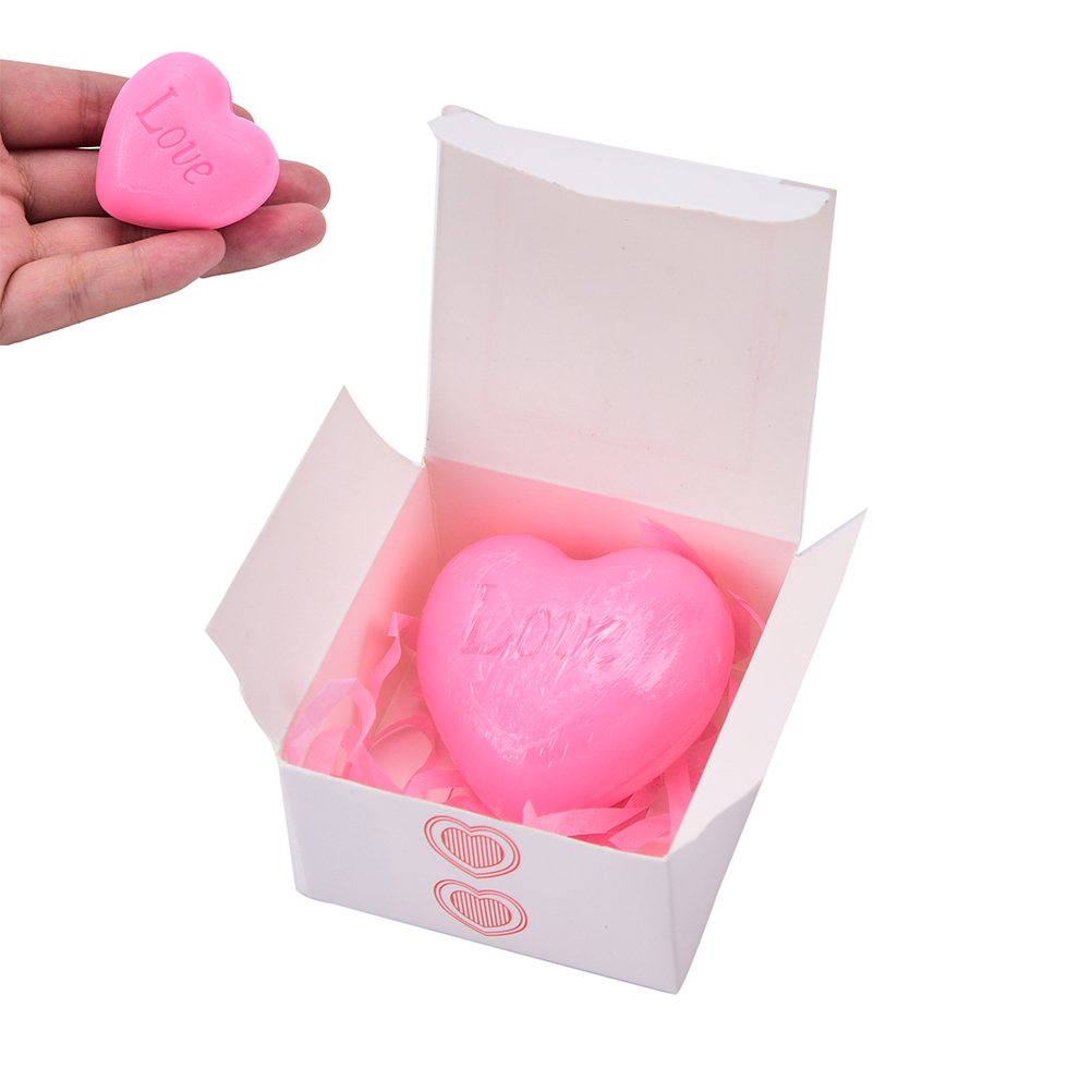 Handmade Love Heart-shaped Design Bath Soap Wedding Party Love Gift Valentine Gift