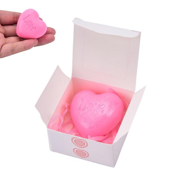 Handmade Love Heart-shaped Design Bath Soap Wedding Party Love Gift Valentine Gift