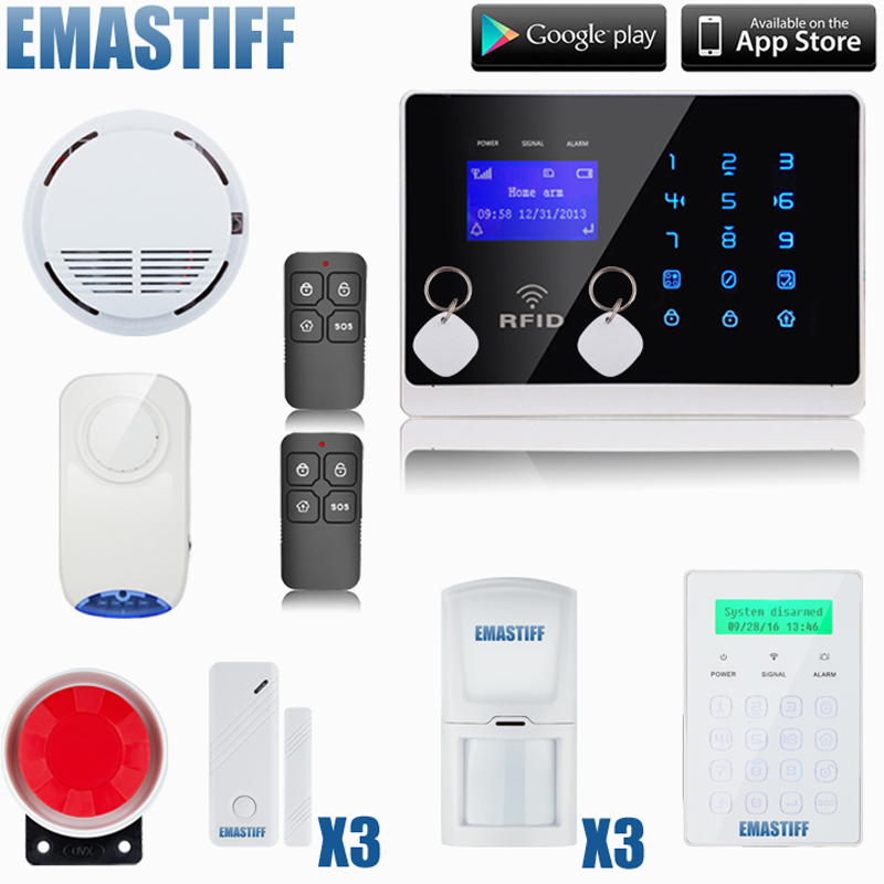 Wireless GSM Alarm System For Home Wireless Security Alarm System with Door Sensor Alarm Systems Security wireless rolling garage door sensor compatible with all of our home alarm system