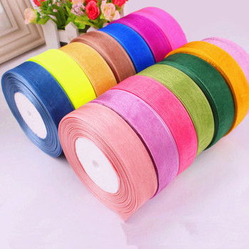 10Y/lot Organza Ribbon 20mm DIY Gift Packaging Craft Decorative Tapes Apparel Sewing Fabric Bow Ribbon Wedding Party Decoration image