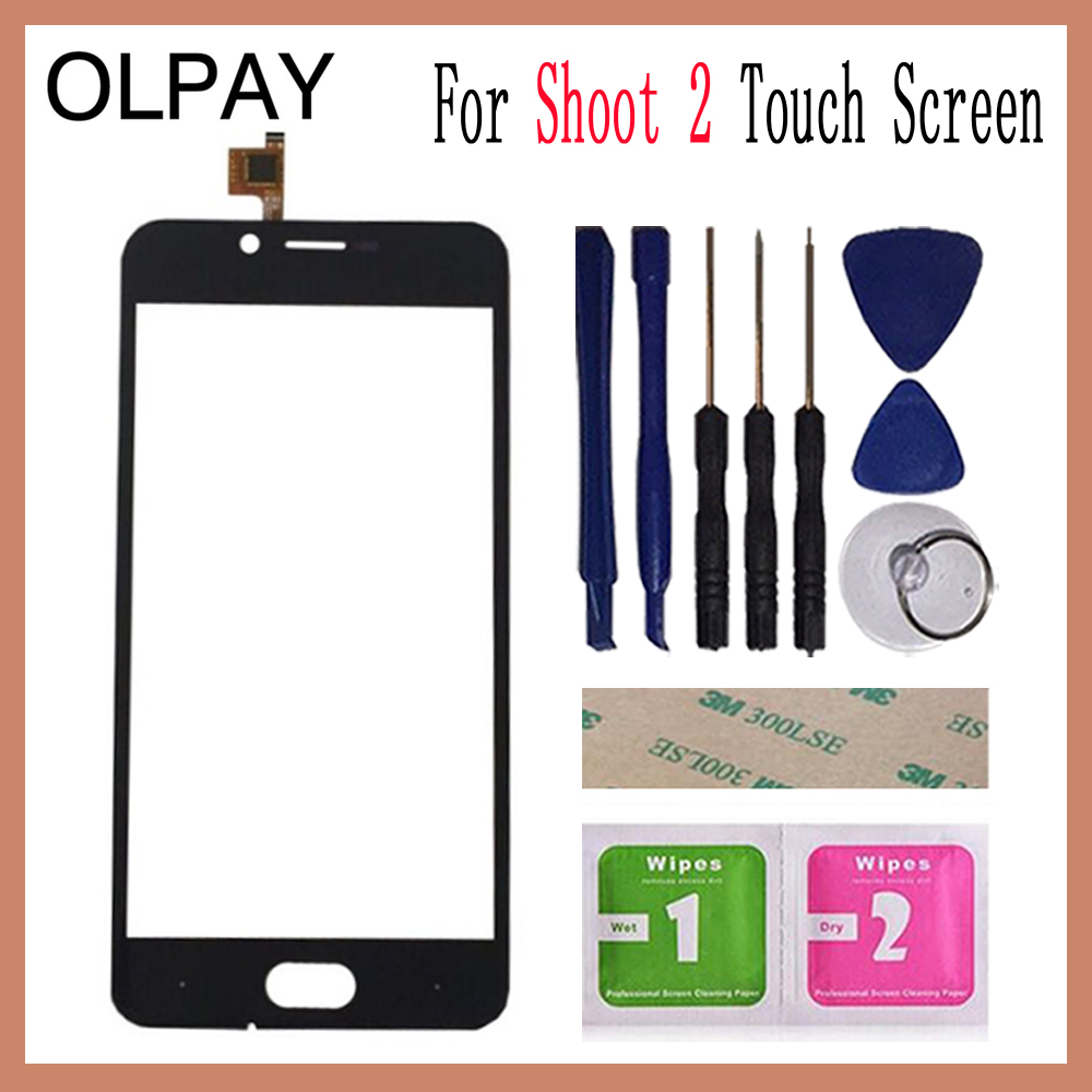 OLPAY 5.0'' For Doogee Shoot 2 Touch Screen Digitizer Panel Repair Parts Touch Screen Front Glass Lens Sensor Tools