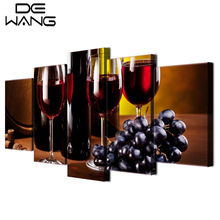 Elegant 5 Pcs Fruits Paintings Canvas Hd Print Artwork Grape Wine Drink Painting  Home Decor Dining Room Wall Art Painting On Canvas Art