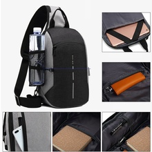 лучшая цена Crossbody Bags for Men Tight Bag Chest Pack Designer Work Bumbag USB Charging for Ipad Sling Bag Summer Travel Chest Bags Nylon