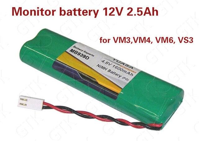 1pcs 12V 2500mAh NIMH battery pack 12v ni-mh battery SCR Battery for Monitor battery VM3 VM4 VM6 VS3