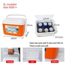 5/8/13L мини двойной холодильник домашний морозильник Термальность сохранение тепла и холодной морозильной камеры Портативный путешествия кемпинговый охладительный контейнер