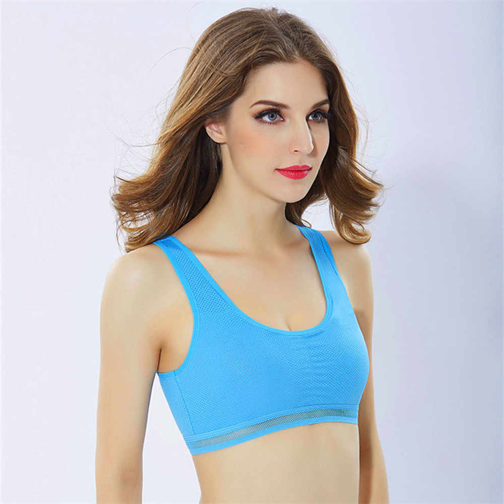 KANCOOLD Female Fitness Yoga Tank Solid Running Workout Racerback Stretch Padded Sports Moisture Bras