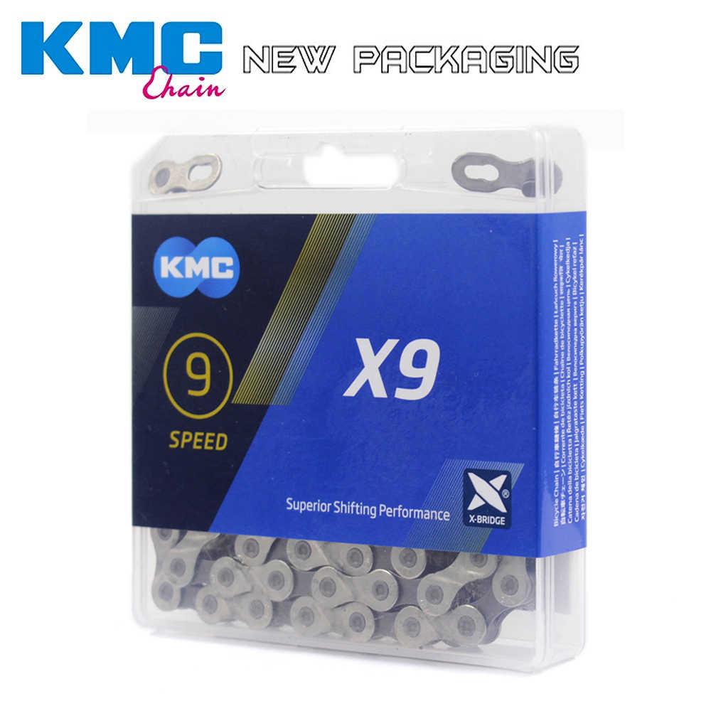 KMC X9.93 цепь 9 18 27 скоростная горная велосипедная цепь, для велосипеда Оригинал X9 MTB дорожный велосипед 116L цепи Z9 Аксессуары для велосипеда