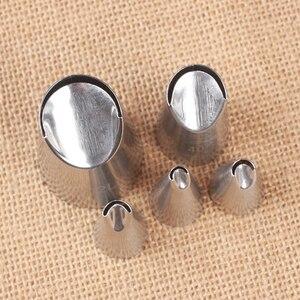 Image 4 - Juego de 5 unidades de boquillas de acero inoxidable para decoración de pasteles, boquillas de crisantemo para crema de pastelería y galletas