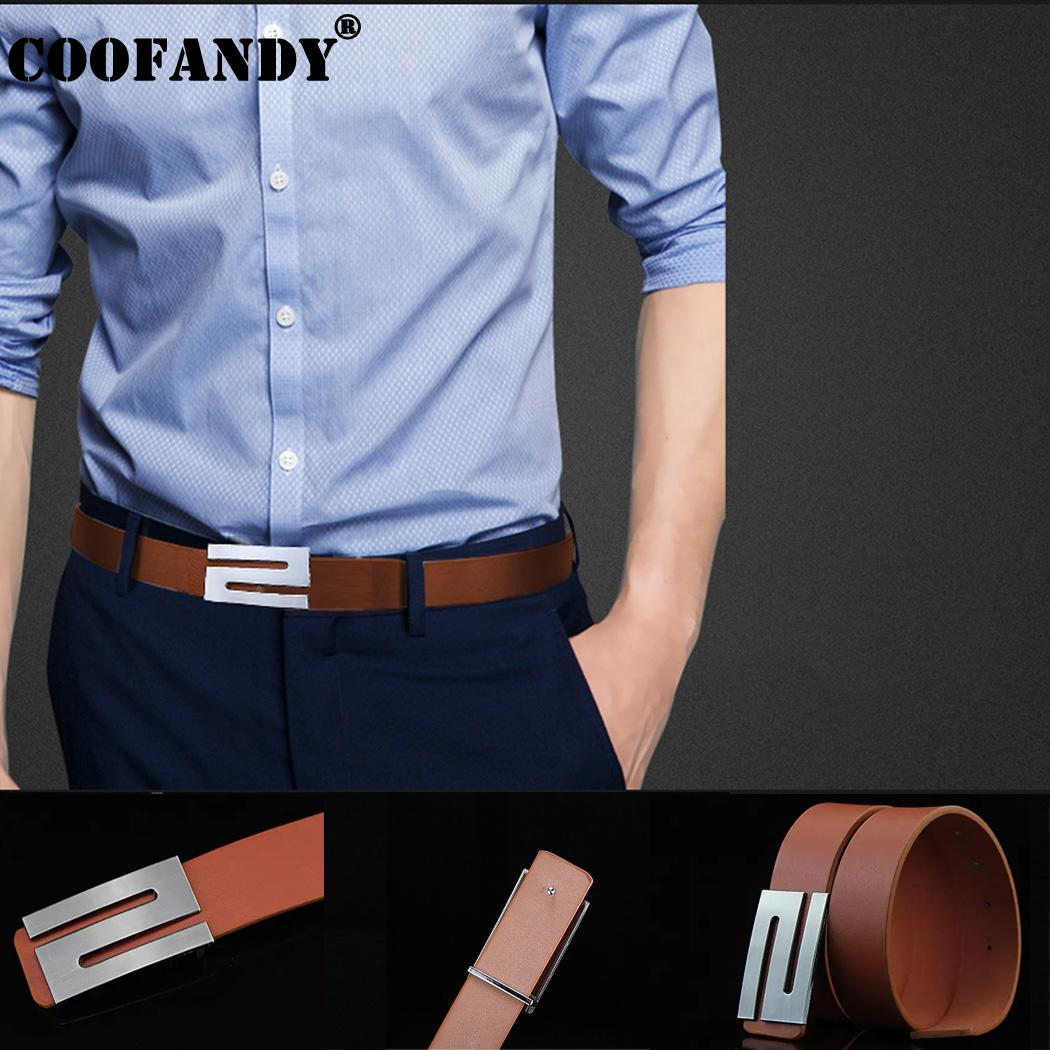 Artificial 4cm  Letter 1 Coffee 6inch Solid Buckle Smooth  5inch Men s Leather Fashion 42 108cm Casual Belt