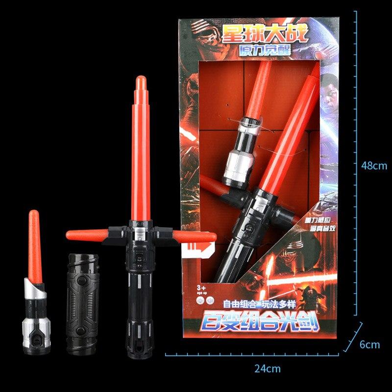2 in 1 Lightsaber retractable toy Star Wars Light Swords Toy For Children Gift