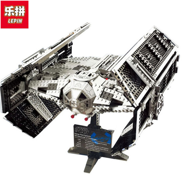 Lepin 05055 Star Series Wars The Rogue One USC Vader TIE Advanced Fighter Set 10175 Building Blocks Bricks Educational DIY Toys lepin 05055 star 1212pcs the rogue one usc vader tie advanced fighter set 10175 building blocks bricks educational war