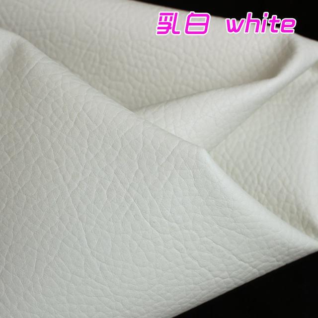 White Big Lychee Pattern Pu Synthetic Leather Faux Leather Fabric