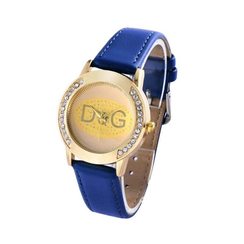 Hot Rhinestones Women watch top luxury famous brand wristwatch fashion leisure relogio feminino women quartz watches clock in Quartz Watches from Watches