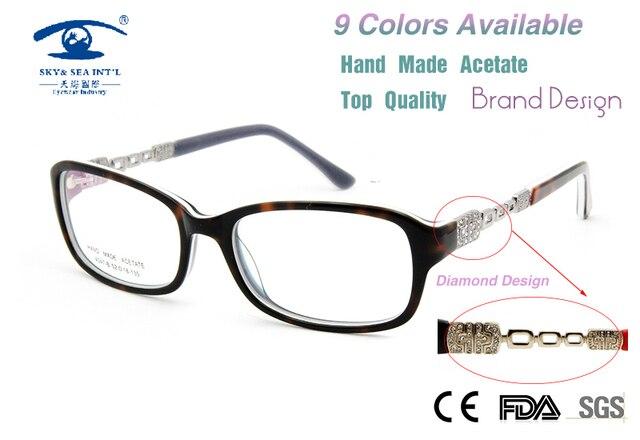 De Lujo de alta Calidad Gafas de Equipo Mujeres Diamand Moda Gafas Marcos de Anteojos Recetados Gafas Personalizado Nuevo 2015