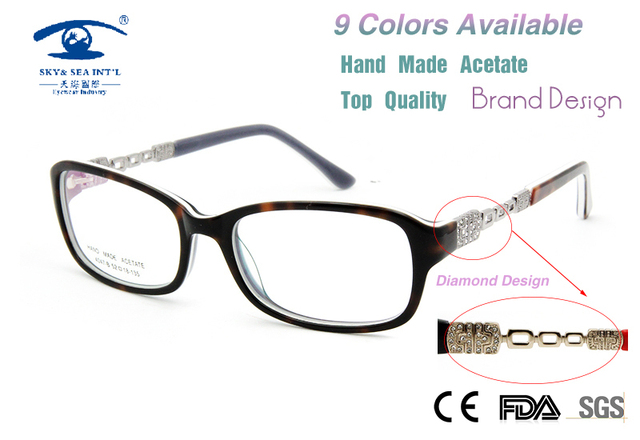 d8c5fe97ebb High Quality Luxury Computer Glasses Women Glasses Customized Prescription  Eyeglass Fashion Diamand Glasses Frames New 2015