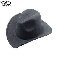 New Style Fashion Trilby Wool Felt Fedora Country Cowboy Hat Solid Color Western Bull Jazz Sun