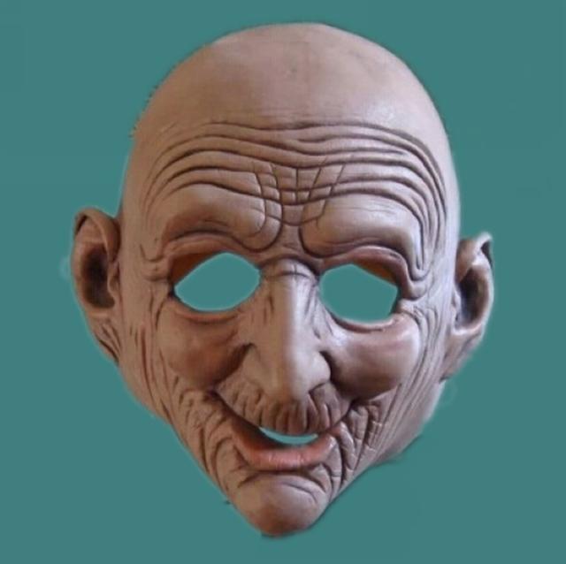 Realista Anciano Calvo Arrugada Para Adultos Máscaras de Halloween Mascarada Máscara de Látex de Caucho Película de Terror Máscara Del Partido de Cosplay Prop