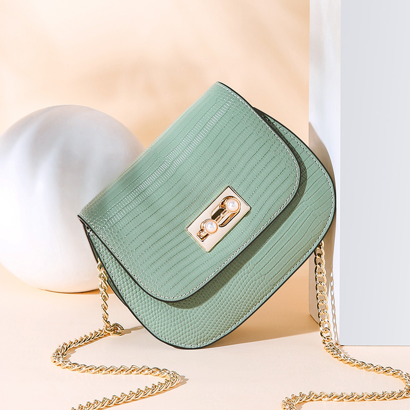 Fashion Saddle Split Leather Round Bag Crossbody Bags For Women Luxury Handbags Women Bags Designer Mini Shoulder Bag sac in Shoulder Bags from Luggage Bags
